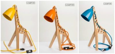 Handmade Kids Giraffe Desk Lamps