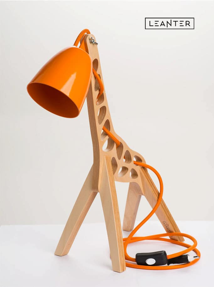 Handmade Kids Giraffe Desk Lamps - wood-lamps, desk-lamps