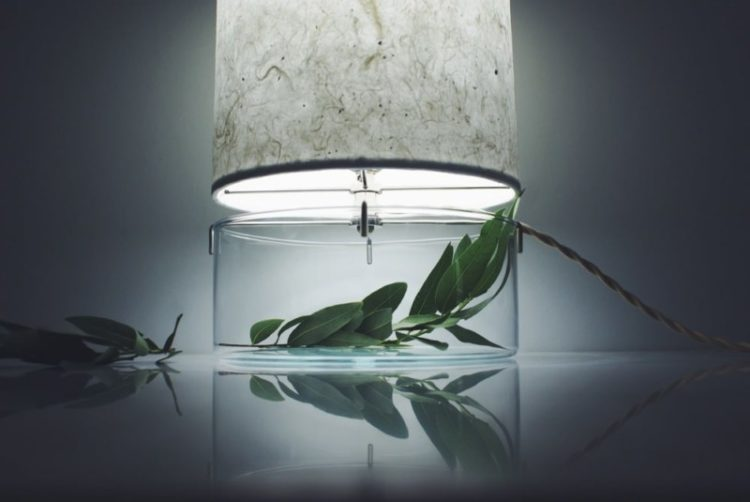Handmade Terrarium Paper Table Lamp
