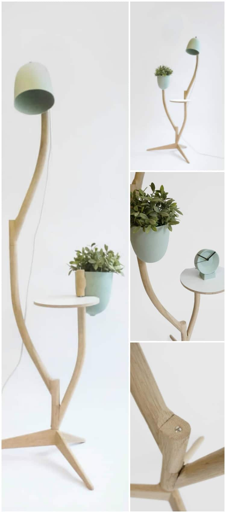 Multi Purpose Branch Out Table Flower Pot And Floor Lamp