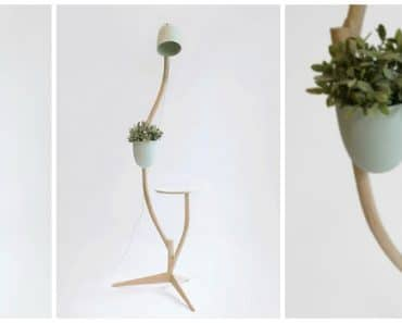 Multi Purpose Branch Out: Table, Flower Pot and Floor Lamp In One