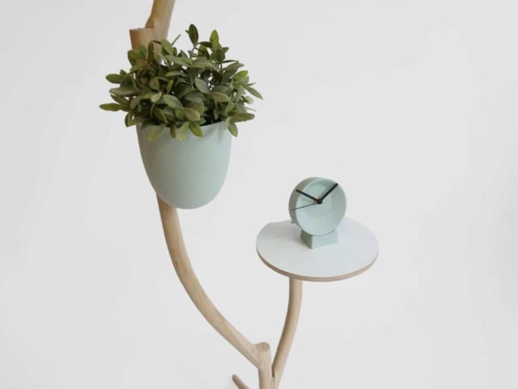 Multi Purpose Branch Out: Table, Flower Pot and Floor Lamp In One - wood-lamps, floor-lamps