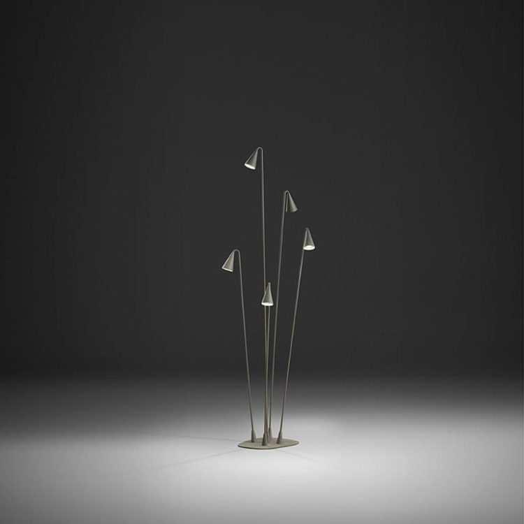 BRISA Simple Thin Design Floor Lamp - restaurant-bar, outdoor-lighting, floor-lamps