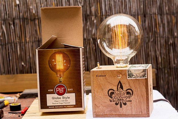 DIY: The Cigar Box Table Lamp | iD Lights