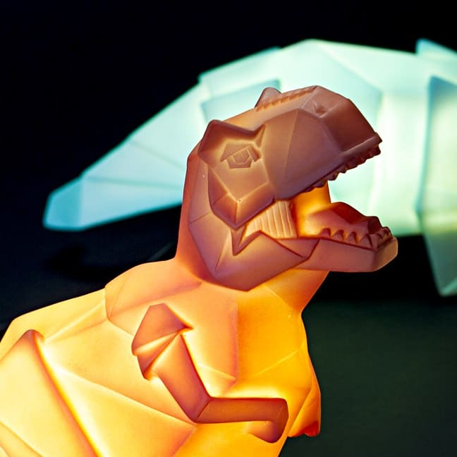 Friendly Bedside Dino Lamp - desk-lamps