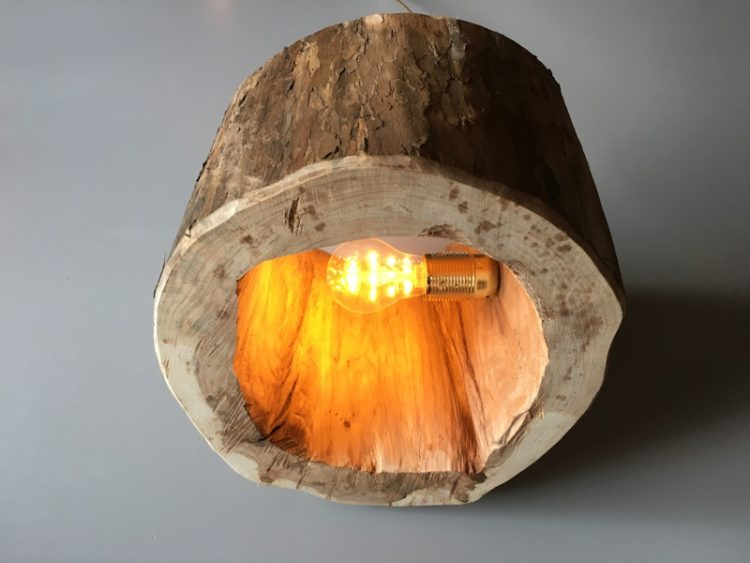 How To Make A Spectacular Stump Floor Lamp Id Lights