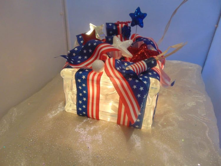 Patriotic 4th of July Lamps