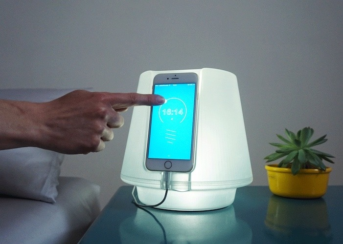 UpLamp Transforms iPhone 6 into Bedside Lamp - desk-lamps