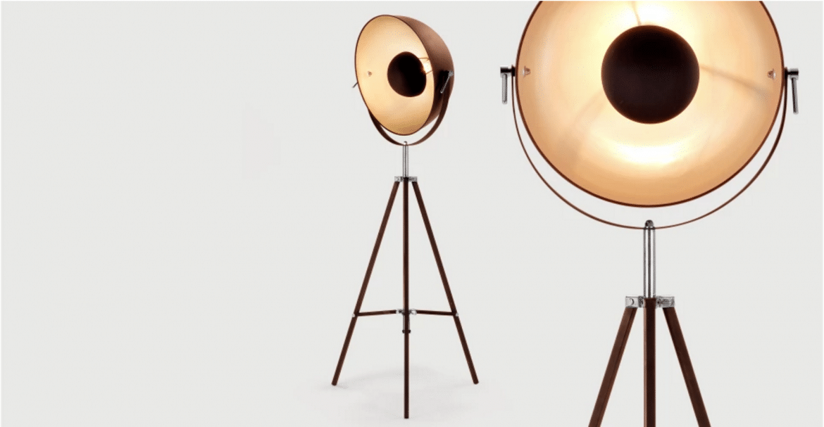Vintage Chicago Tripod Floor Lamp With Brass Finish Id