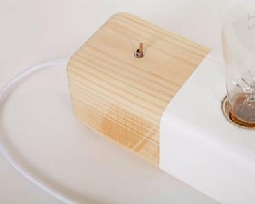 Wood Modern Handmade Table Block Lamp