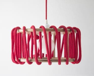 Wood and Elastic Macaron Pendant Lamp