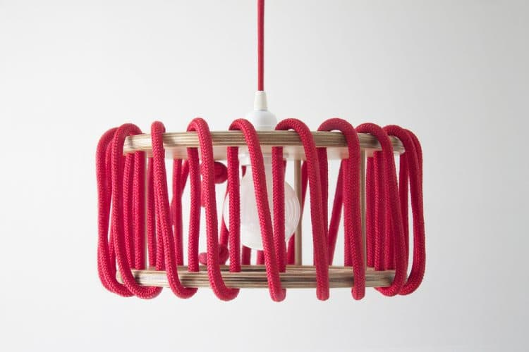 Wood and Elastic Macaron Pendant Lamp