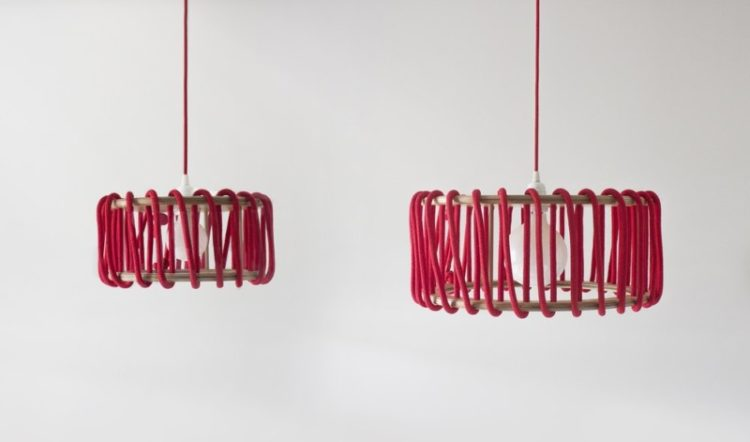 Wood and Elastic Macaron Pendant Lamp - wood-lamps, pendant-lighting
