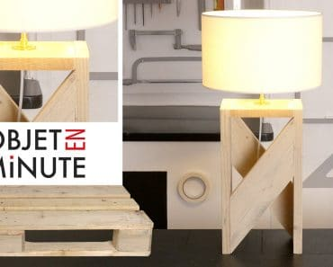 1 min Tutorial: Making a Design Lamp with One Pallet