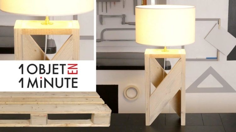 1 min tutorial making a design lamp with one pallet id lights - Idee deco avec palettes bois ...