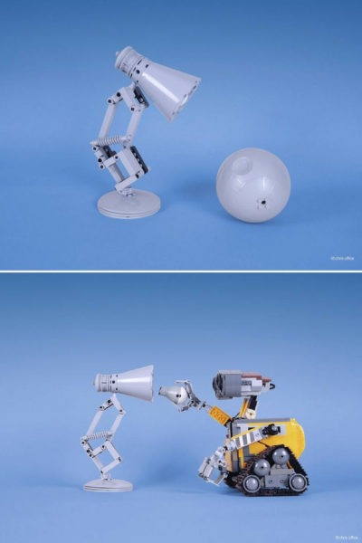 Cute Pixar Desk Lamp made with LEGO