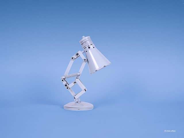 Cute Pixar Desk Lamp made with LEGO Desk Lamps