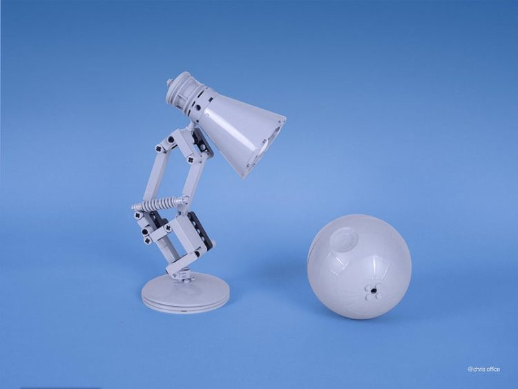 Cute Pixar Desk Lamp made with LEGO - desk-lamps