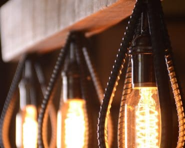 Industrial Barn Wood Light Fixture