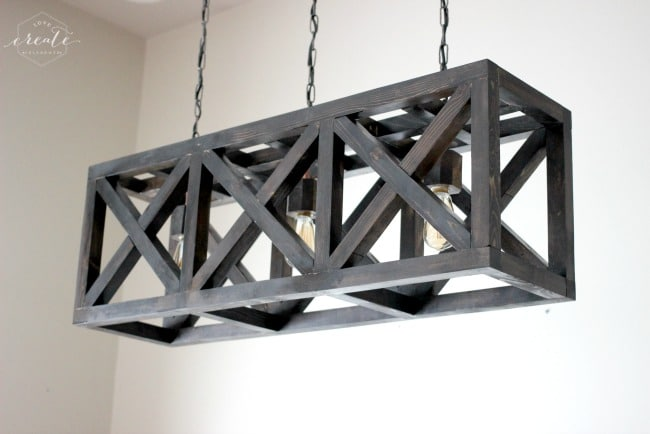 How to Make an Industrial Light Fixture - wood-lamps, chandeliers