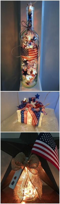 Patriotic 4th of July Lamps Table Lamps