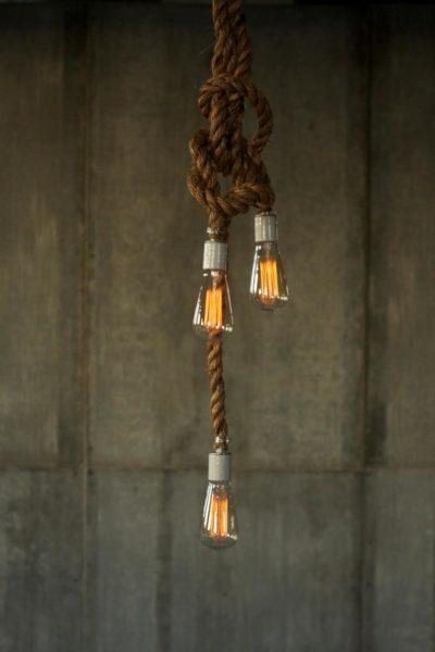 Rustic Rope Pendant Chandelier