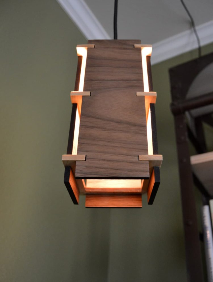 Square Wooden Pendant Light Pendant Lighting Wood Lamps