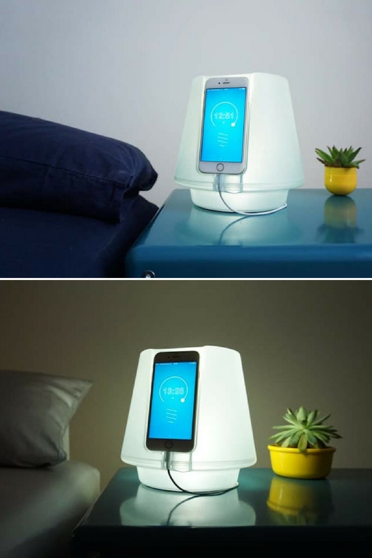 Uplamp Transforms Iphone 6 Into Bedside Lamp Id Lights