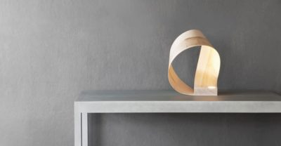 Wood Table Lamp Inspired by Natural Organic Shapes