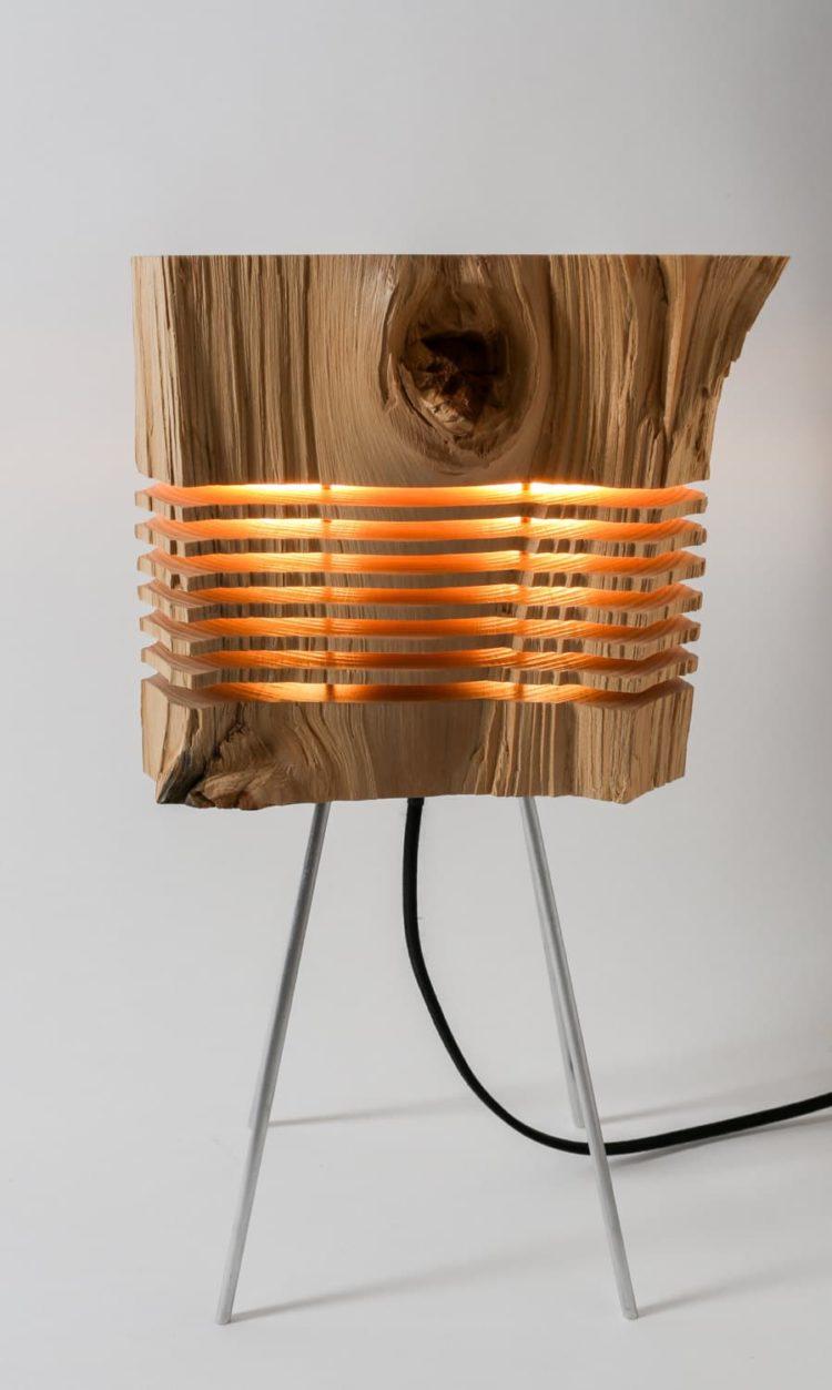 Beautiful Light Sculpture made with California Cedar Wood