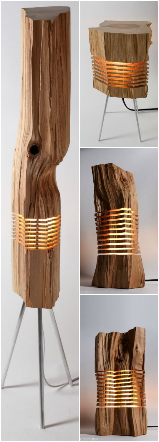 Beautiful Light Sculptures made with California Cedar Wood - wood-lamps, table-lamps, floor-lamps