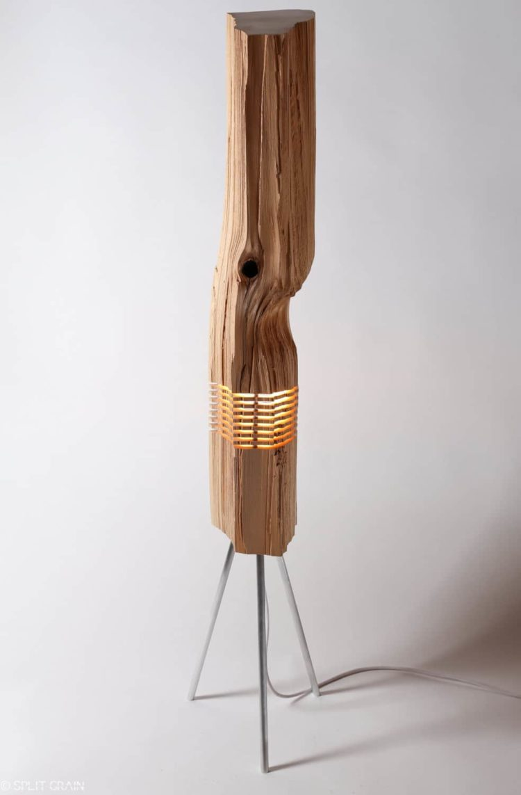 Beautiful light sculptures made with california cedar wood id lights - Factors to consider when buying a floor lamp ...