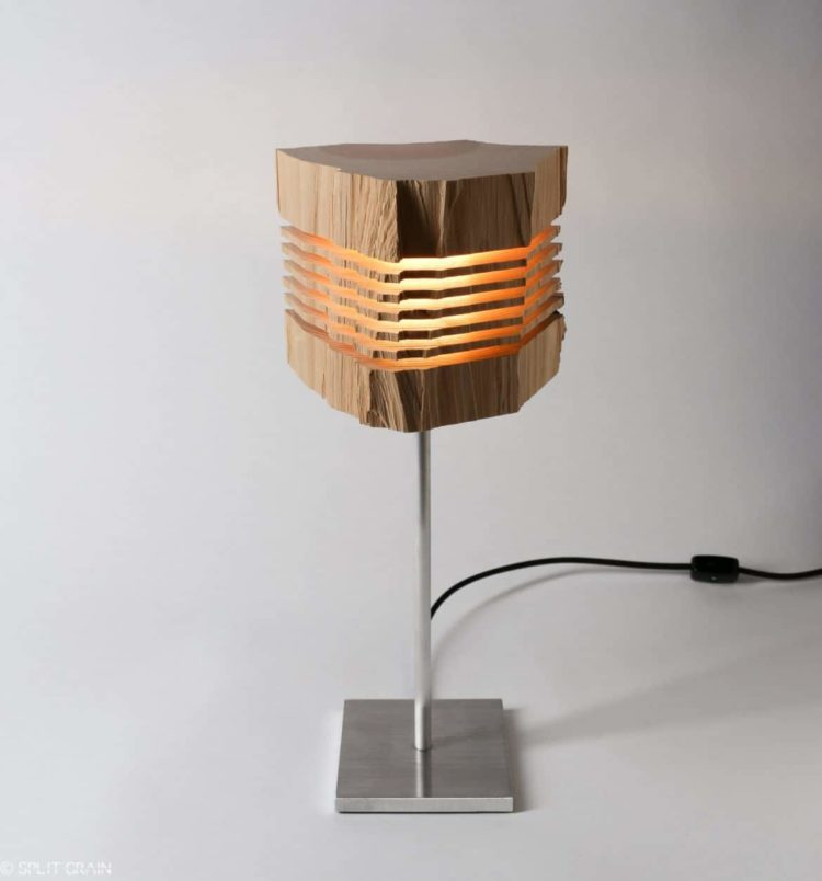 Beautiful Light Sculptures Made With California Cedar Wood   Wood Lamps,  Table Lamps
