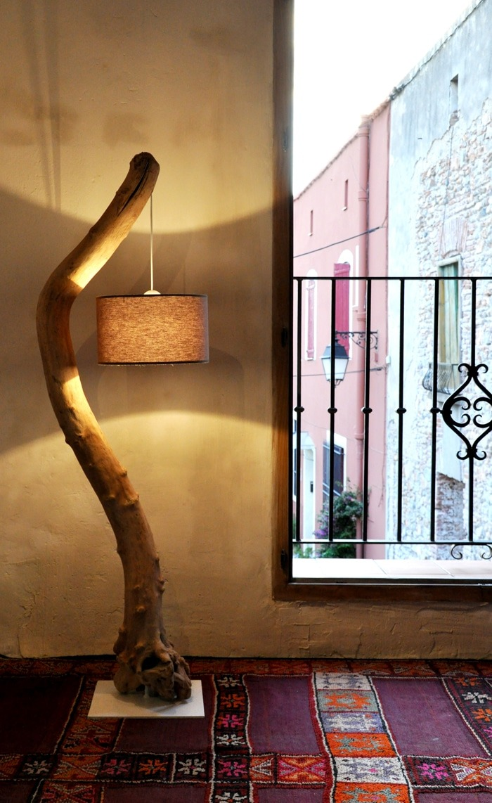 most led rustic gooseneck awesome driftwood lamp uplighter lamps genius adesso floor