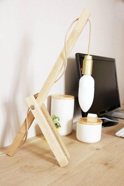 The Easiest Wood Lamp Tutorial