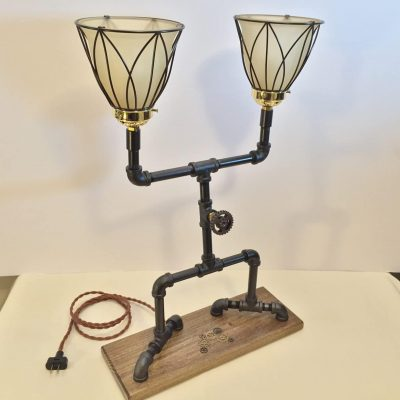 Black Iron Pipe Desk Lamp
