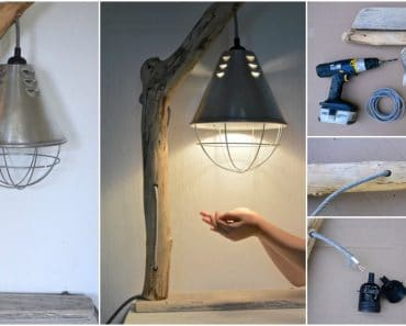 DIY How to Make a Driftwood Table Lamp