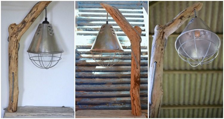 DIY How to Make a Driftwood Table Lamp Table Lamps Wood Lamps