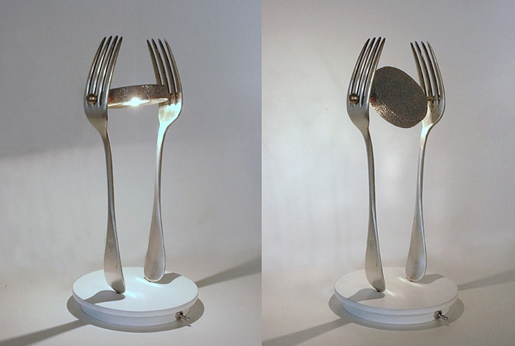 Recycled Art Lamps by LM Planquette