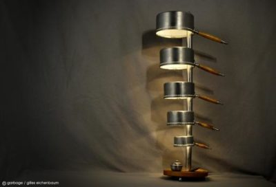 Recycled Pans and Accessories Floor Lamp