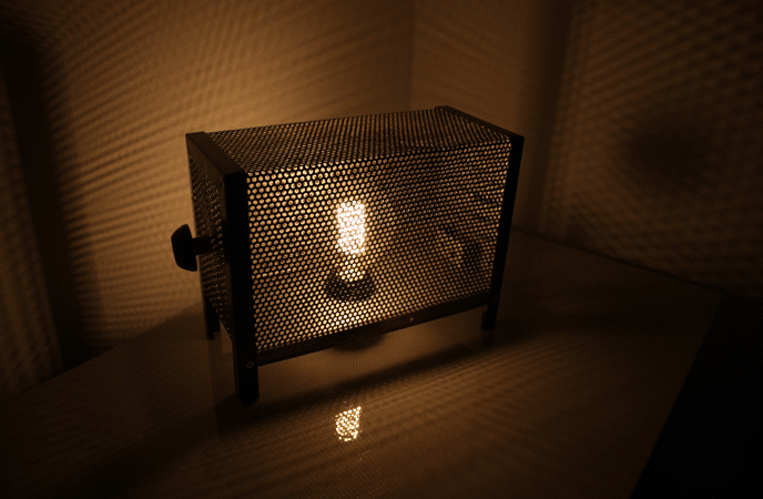 Vintage Metal Grid Edison Table Lamp