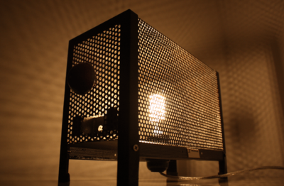 Vintage Metal Grid Edison Lamp