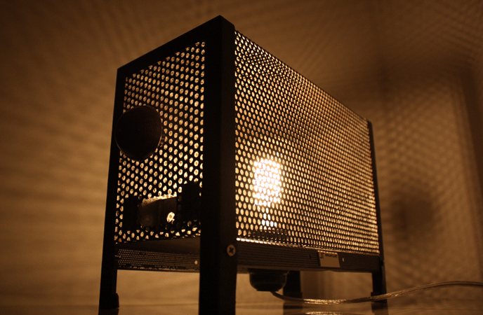 Vintage Metal Grid Edison Table Lamp - table-lamps