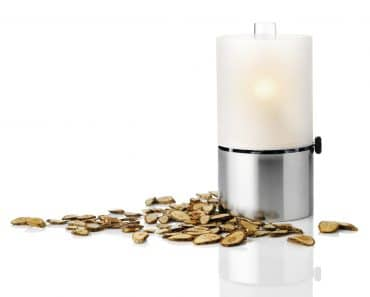 Stelton Design Oil Lamp with Satin Glass Shade