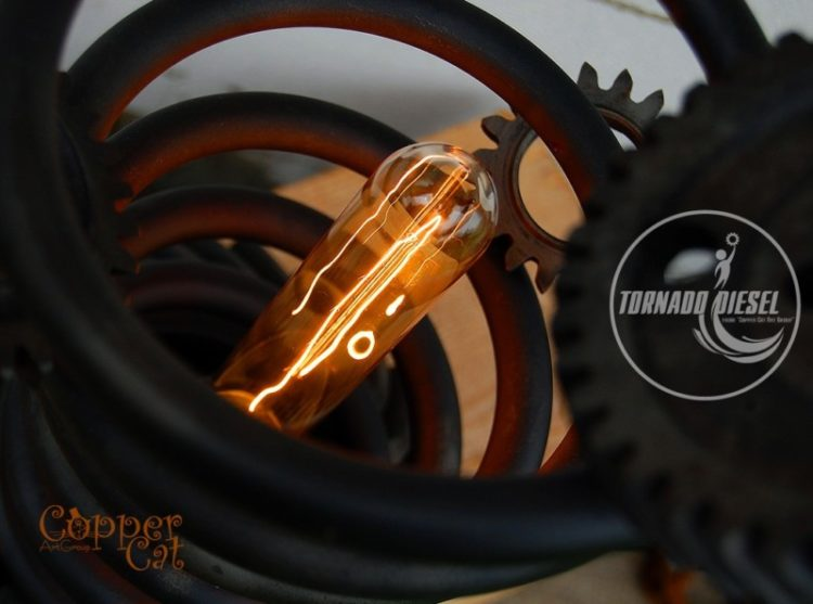 Tornado Spring and Gears Table Lamp Table Lamps