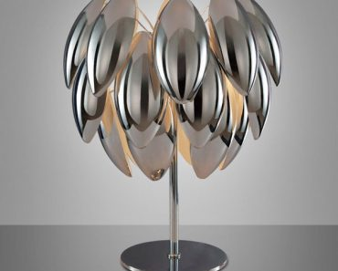 Chrome Luna Design lamp