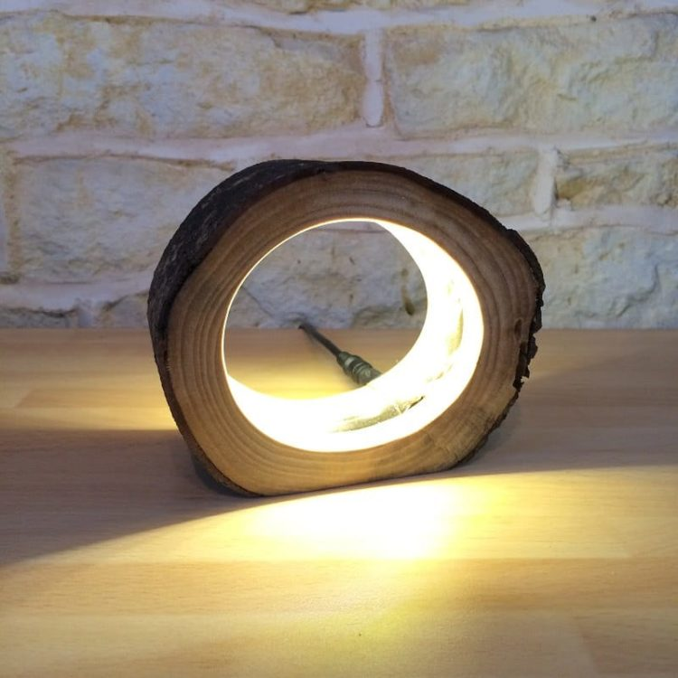 Hollow Log Bedside Lamp Id Lights