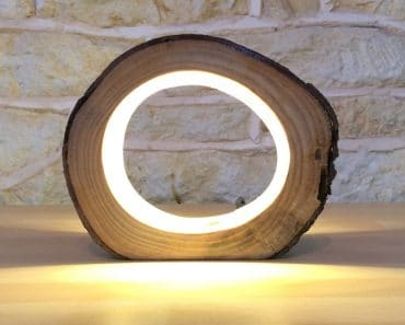 Hollow Log Bedside Lamp