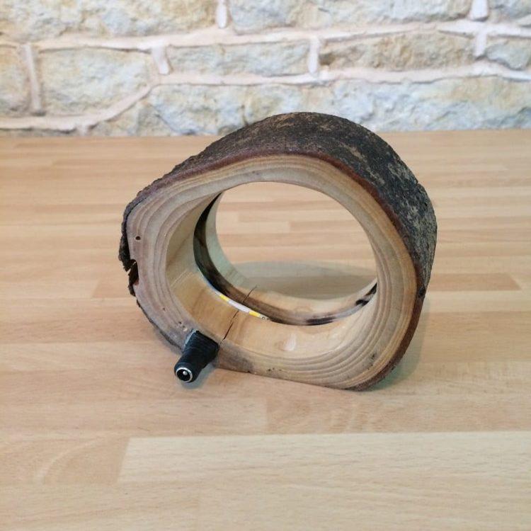 Hollow Log Bedside Lamp