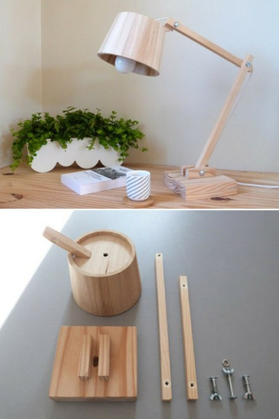 How to Make a Scandinavian Wood Lamp